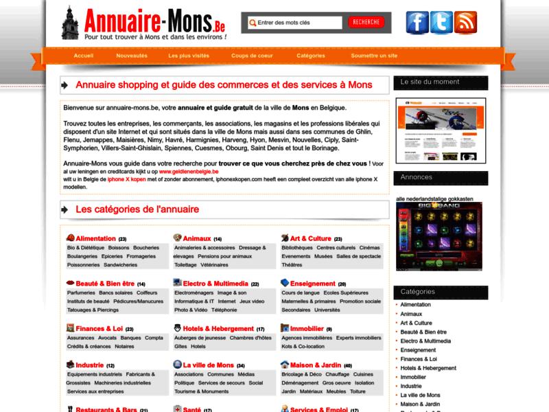 Annuaire Mons, annuaire de la ville de Mons