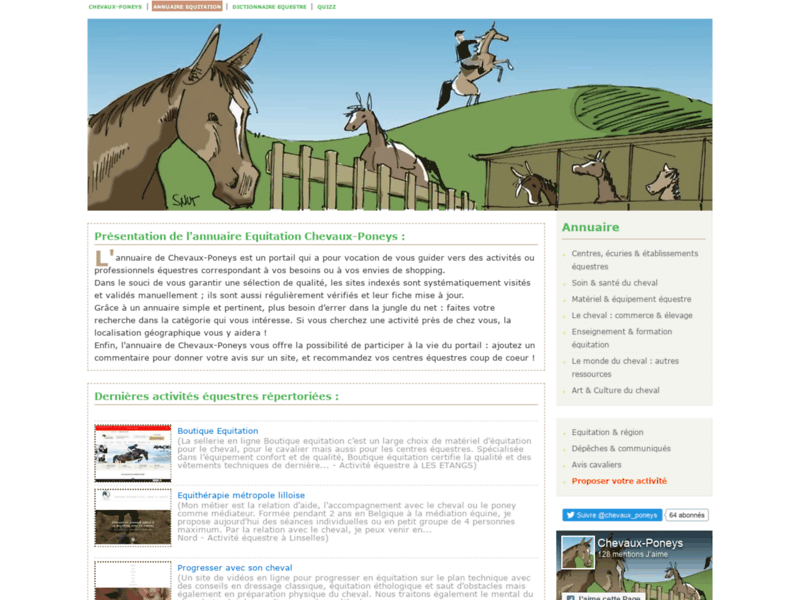 Annuaire équitation Chevaux-Poneys