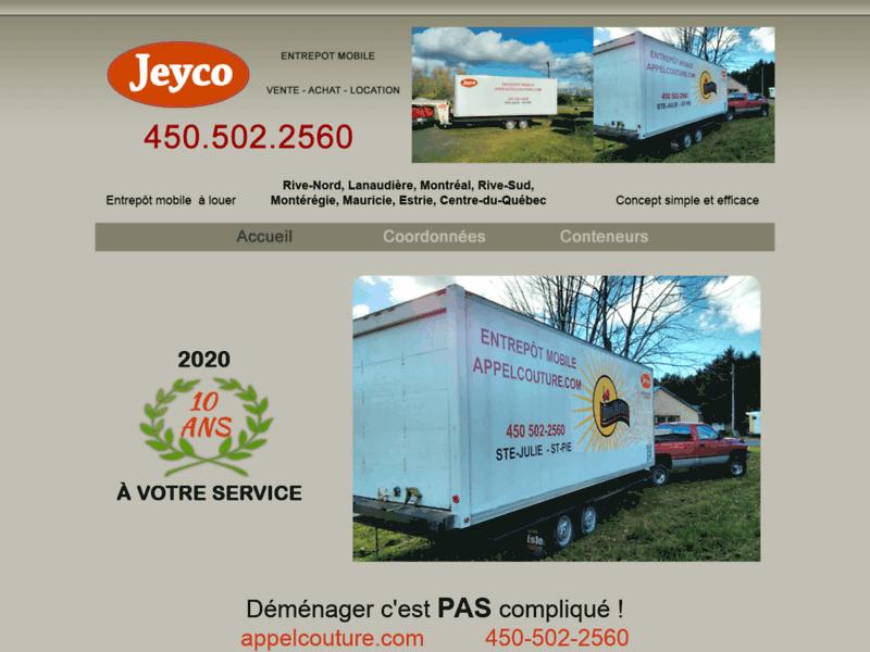 Jeyco Entrepot Mobile - Entreposage avec conteneur - Camion de déménagement