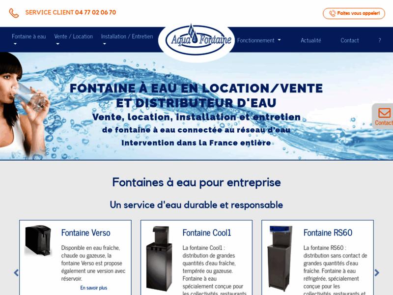 Aquafontaine, spécialiste de la fontaine à eau