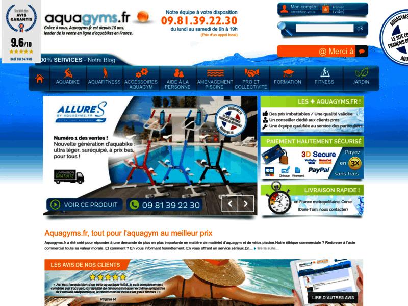 Aquagyms, le site référence d'aquagym
