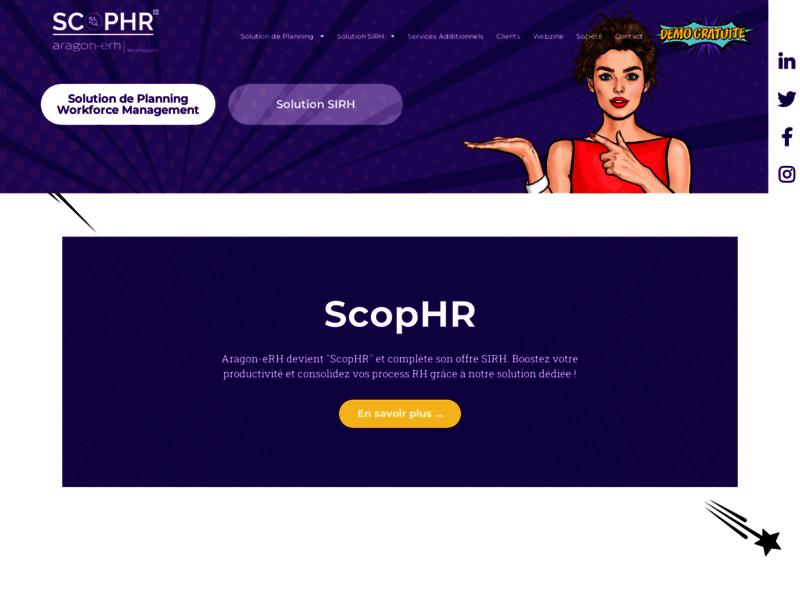 Aragon-erh.com, site sur internet de logiciels de rh pour les entreprises.
