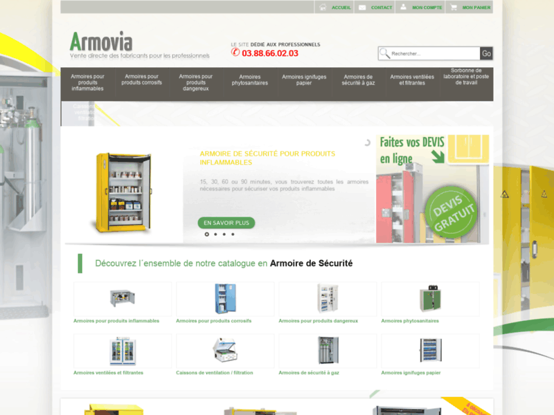 Site de vente en ligne d'armoires de sécurité