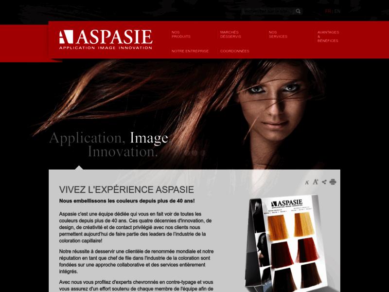 Aspasie, coloration capillaire
