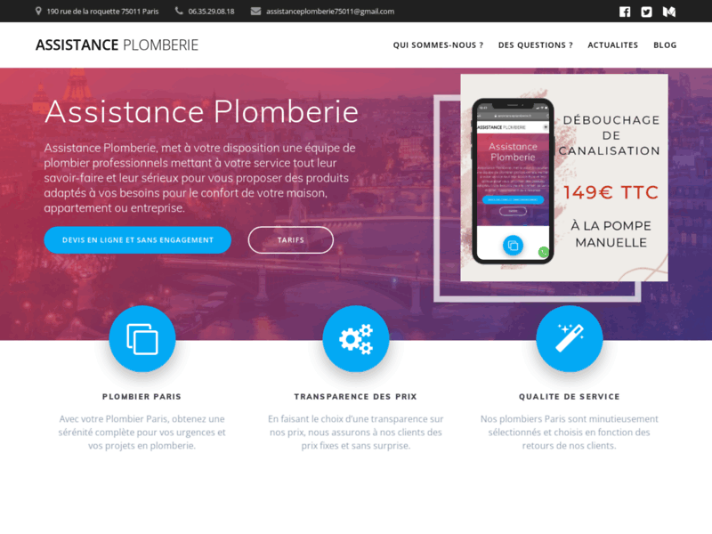 Assistance Plomberie