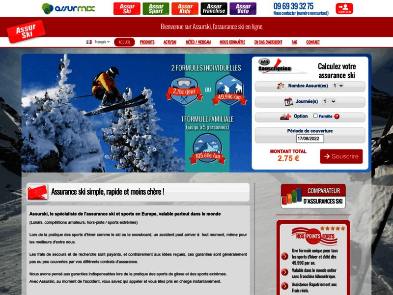 Assurance ski en ligne - Assurski
