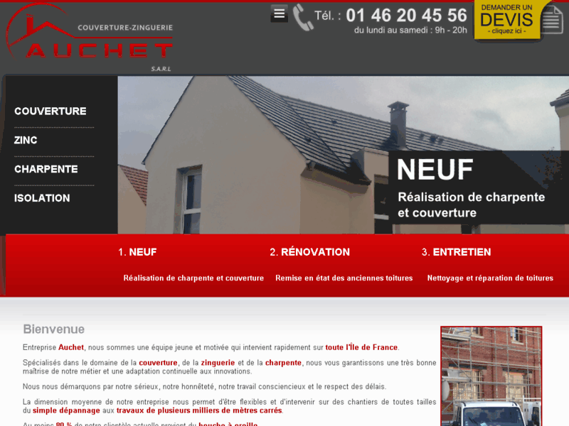 Entreprise Auchet, toiture bac acier