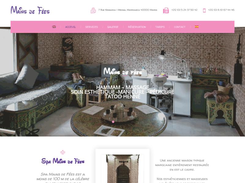 Aux Mains De Fées : Spa à Marrakech