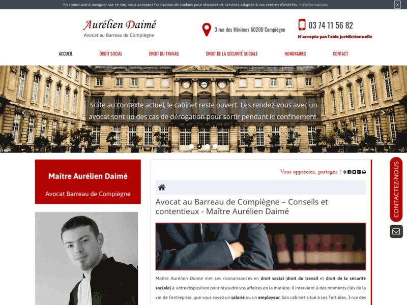 Aurélien Daimé, avocat en droit social à Compiègne