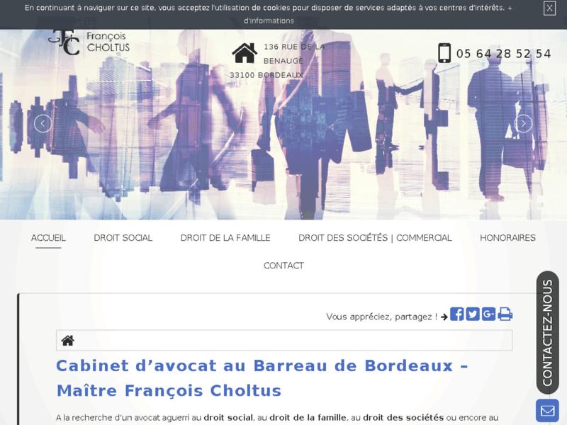 Me François Choltus, avocat en droit commercial à Floirac
