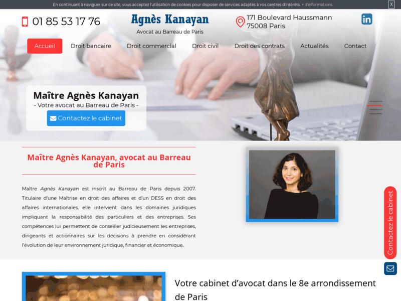 Avocat Agnès Kayan dans le 8ème arrondissement de Paris (75)