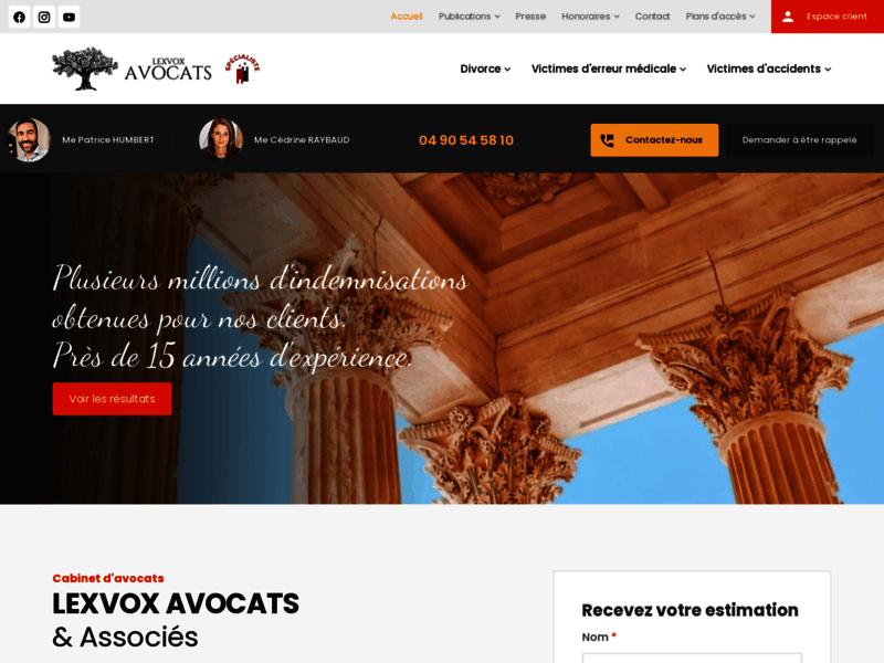 Avocat  Aix en Provence, Marseille, cabinet d'avocats Lexvox