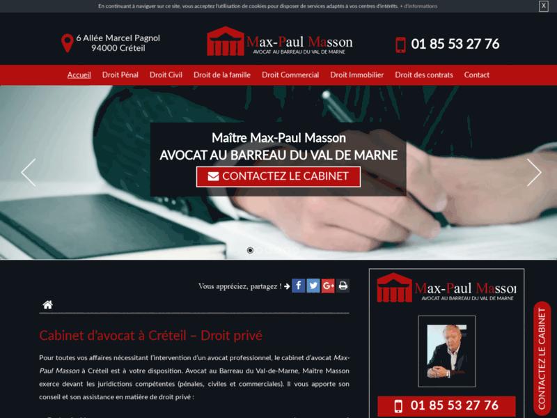 Maître Max-Paul Masson, avocat droit des étrangers