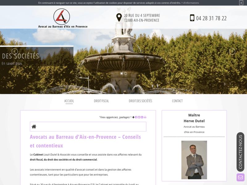 Cabinet Louit Dutel & Associés, avocats à Aix-en-Provence