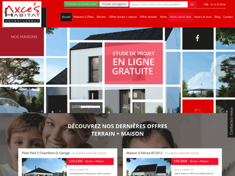 Screenshot du site : constructeur Rennes