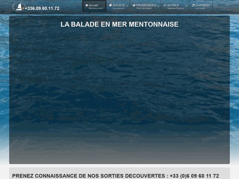 La balade en mer Mentonnaise