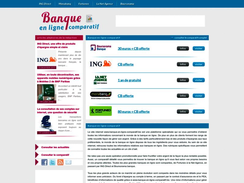 Banque en ligne : le comparatif