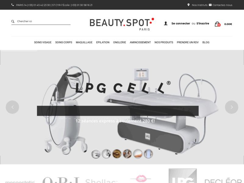 L'interface Beautyspot : soins du corps