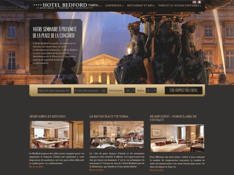 Hôtel Bedford, luxe, charme et tranquillité