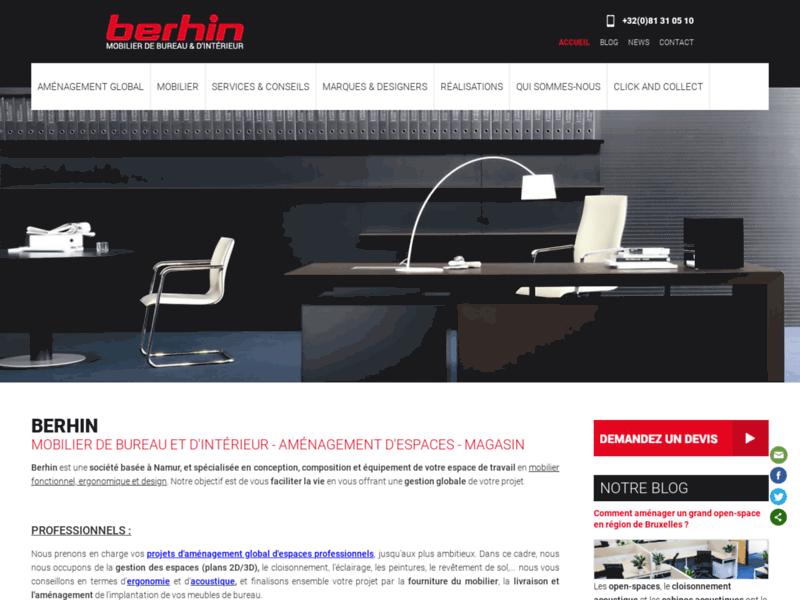 Berhin : mobilier de bureau