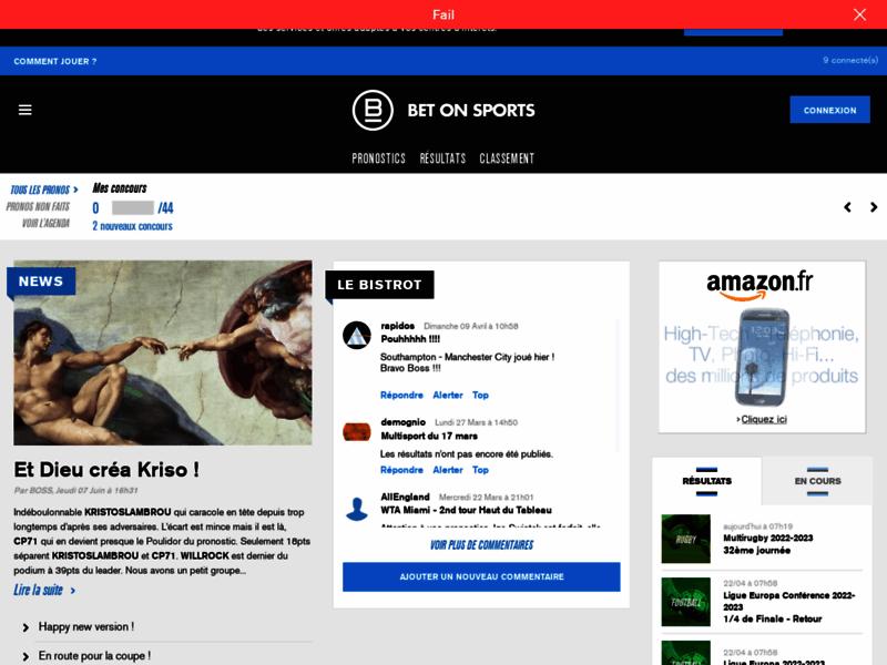 Rejoignez la communauté des pronostics gratuits avec Bet-on-sports