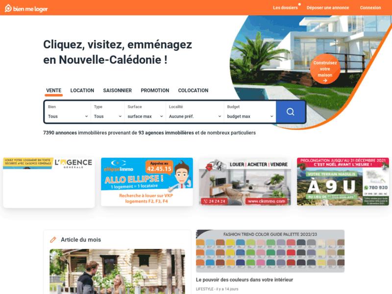 Immobilier Nouvelle Calédonie : Bienmeloger