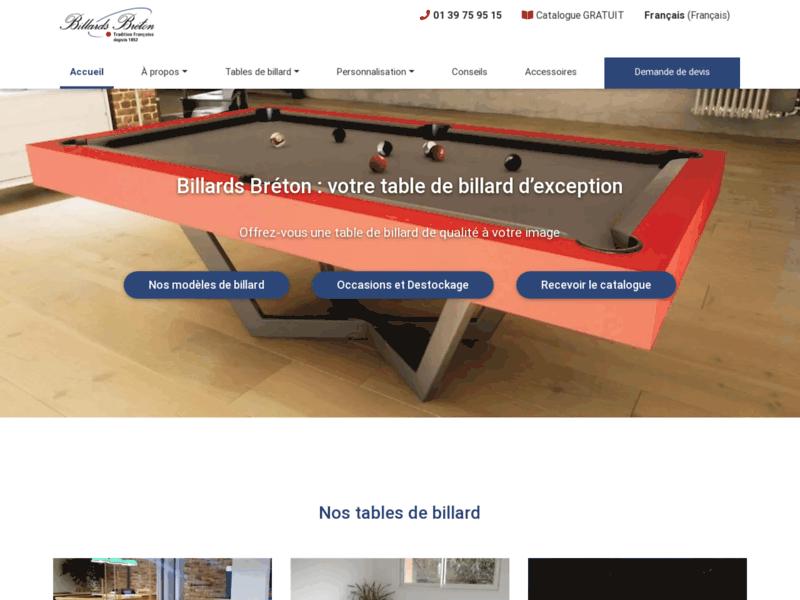 Billards Bréton: billards tables design de fabrication française