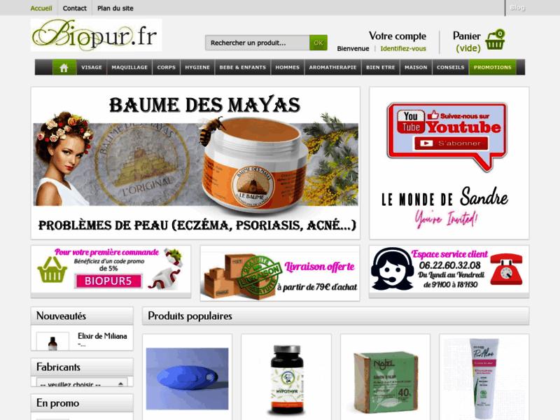 boutique bio-cosmétiques bio - biopur.fr