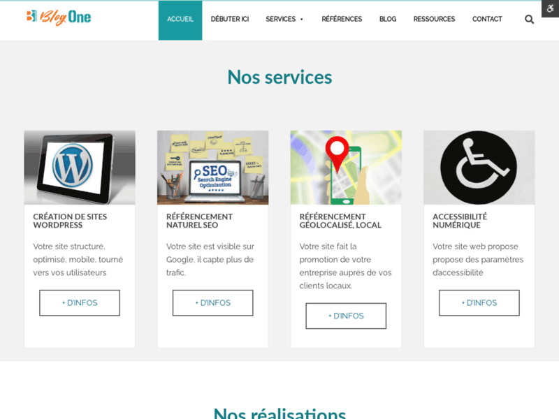Screenshot du site : Consultante SEO Pau