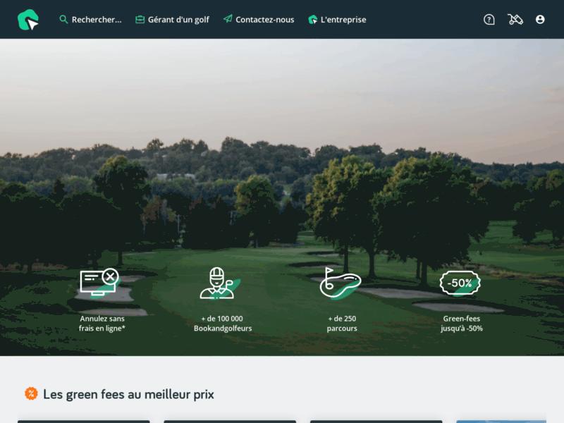 Réservation de parcours de golf à distance