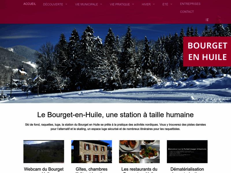 Bourget-en-Huile, site officiel de la commune