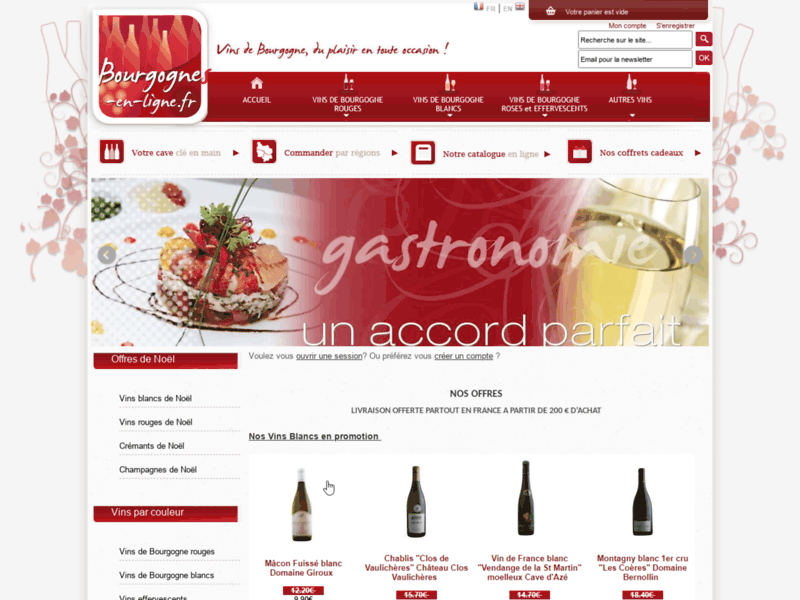 Bourgognes en ligne, vente de vins de Bourgogne - ITIS Commerce