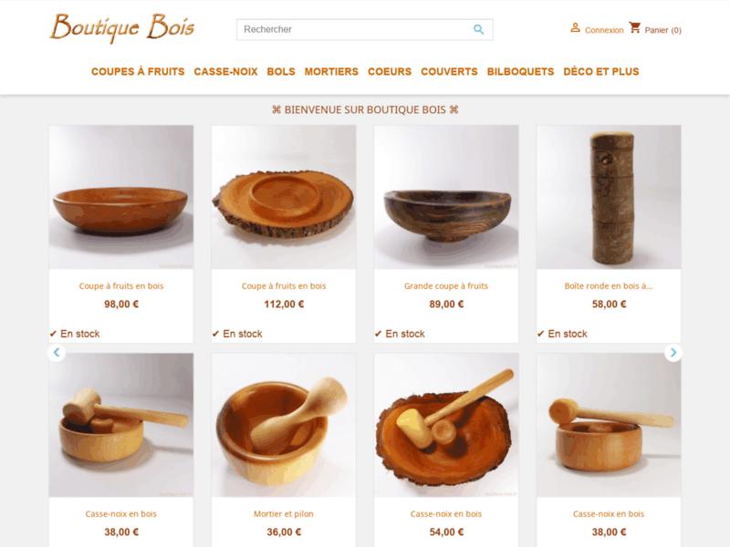 Objets décoratifs et utilitaires en bois tourné ou sculpté - Boutique Bois