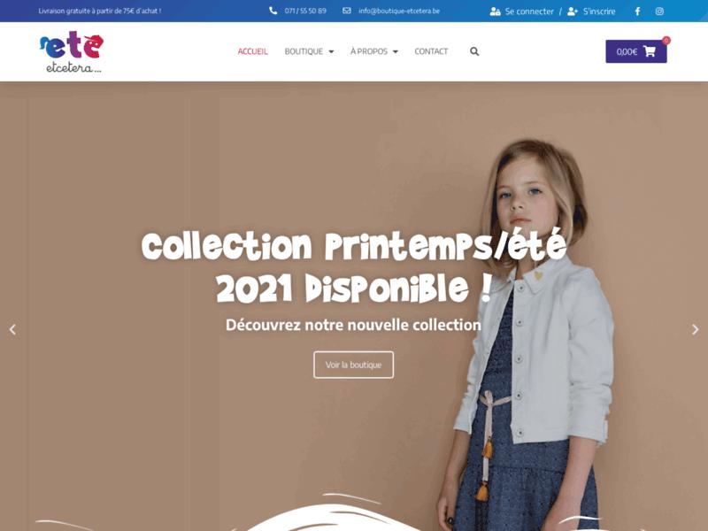 Etcetera : des vêtements et chaussures tendance pour enfants