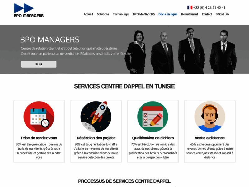 BPO Managers, centre d'appel en Tunisie