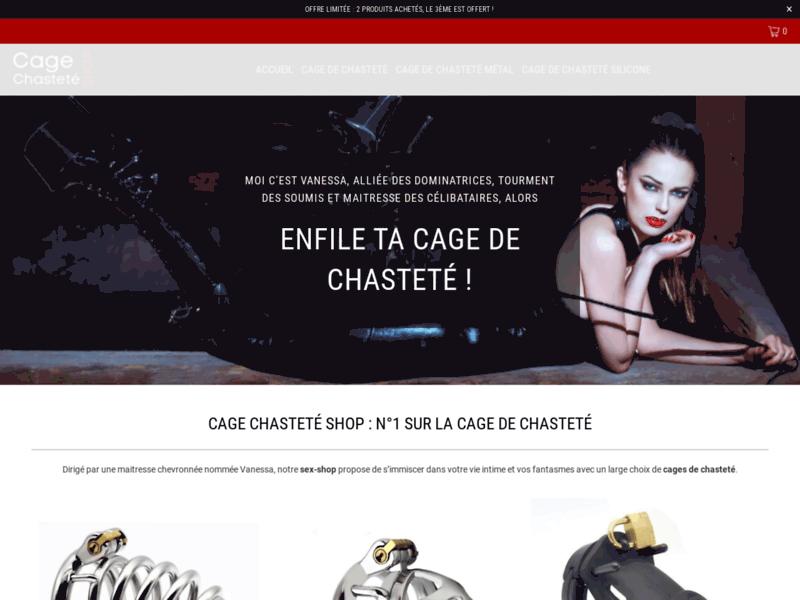 Cage Chasteté Shop
