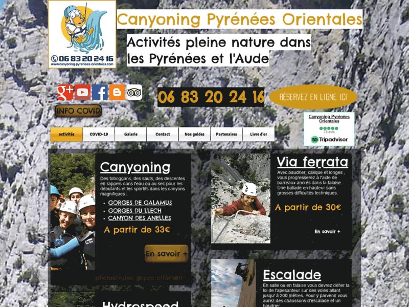 Canyoning rafting Pyrénées Orientales et Aude