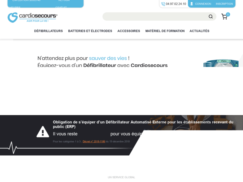Défibrillateurs en ventes sur Cardiosecours Défibrillation