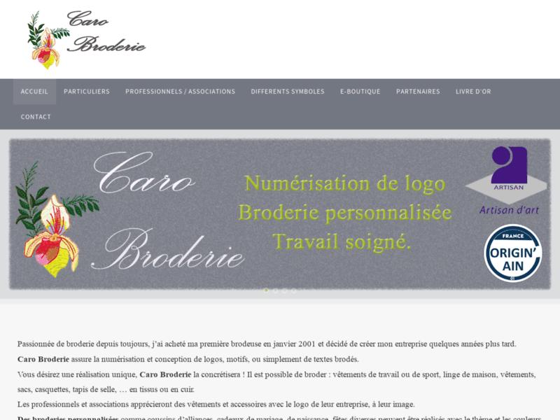 Caro Broderie : Artisan brodeur : logo, entreprise, association, cadeau, etc dans l'Ain