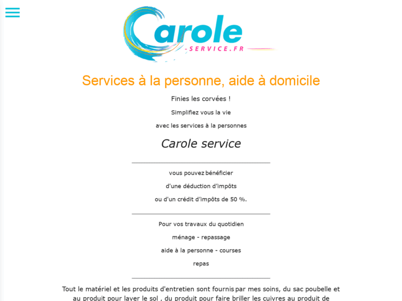 Carole Services à la personne - entretien, ménage, repassage