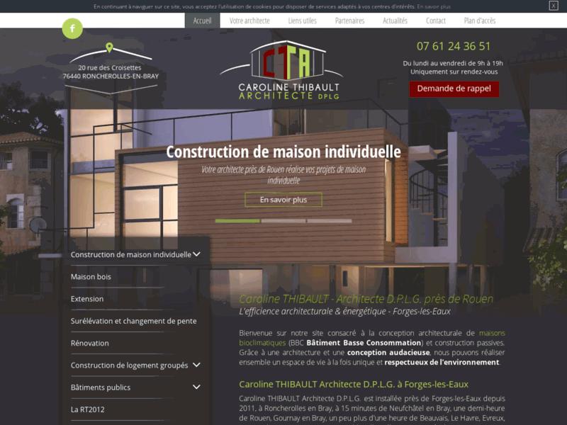 Construction maison bois à Roncherolles-en-Bray