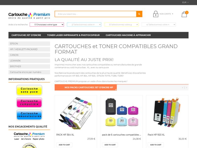 Cartouches compatibles, remanufacturées, sans puce - Cartouche Premium