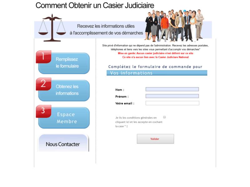 Demande d'extrait de casier judiciaire