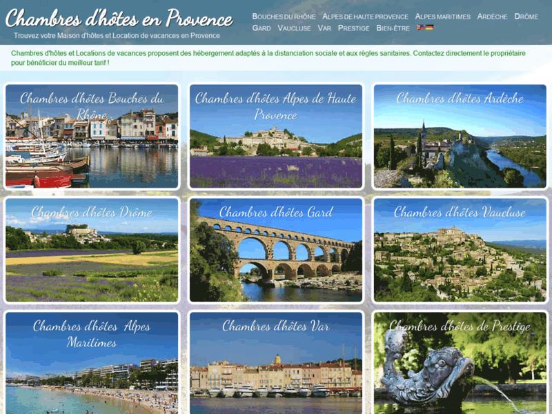 Annuaire de chambres d'hôtes en Provence