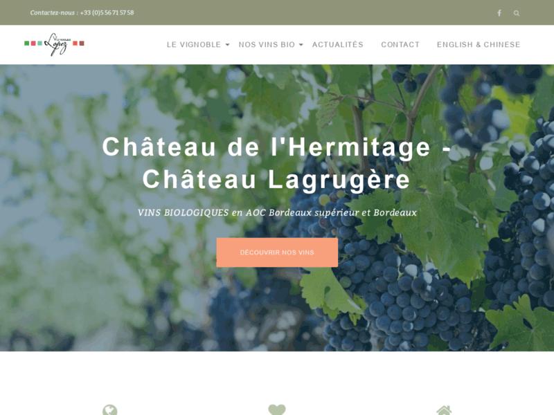 Vignobles Lopez - Château de l'Hermitage - Château Lagrugère