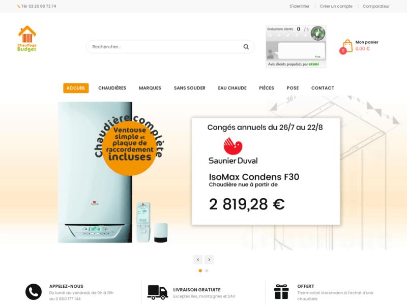 Comparateur chaudières - Chauffage-budget.fr