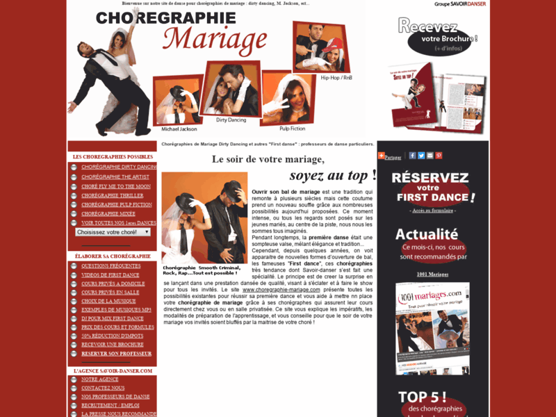 Chorégraphie Dirty Dancing : cours particuliers