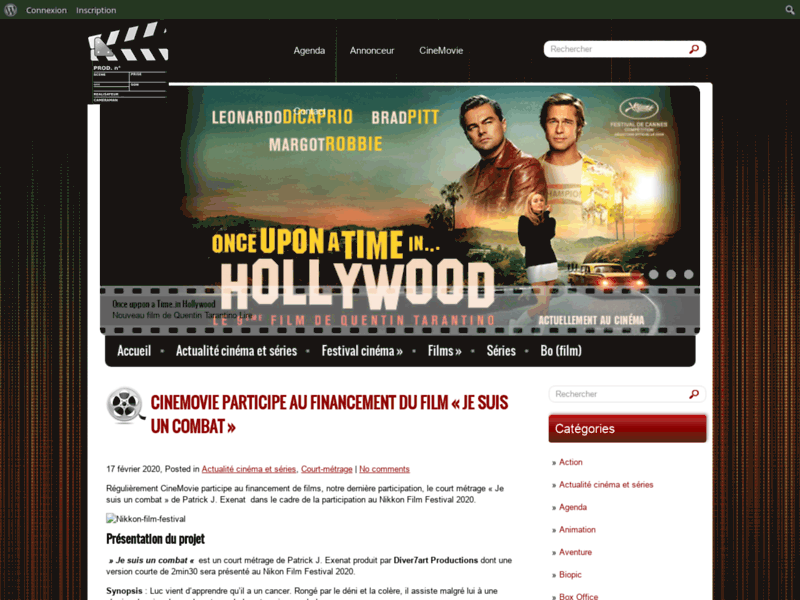 CineMovie, site sur le cinéma, les films et séries