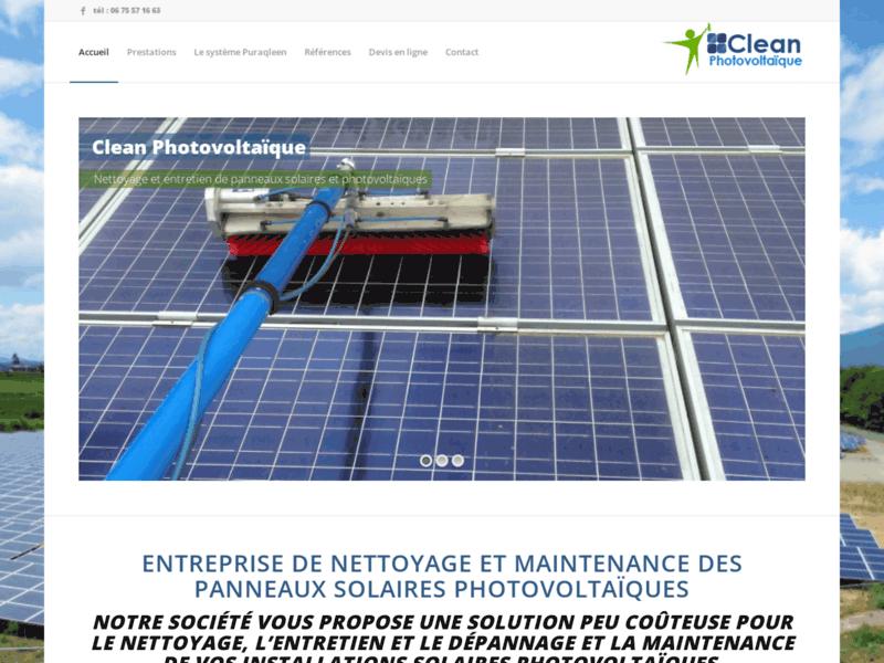 Clean Photovoltaïque, nettoyage de panneaux solaires