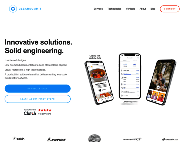 Website's screenshot : ClearSummit: A Software Development Company